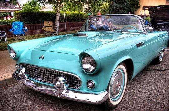 1955 Ford Thunderbird old car
