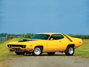 1971 Plymouth Road Runner muscle car