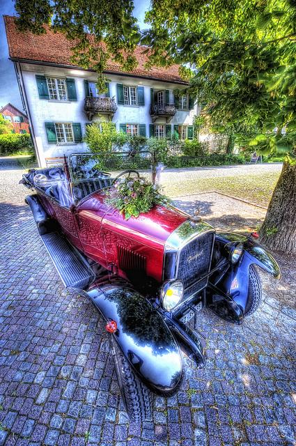 Vintage Old Car Planter
