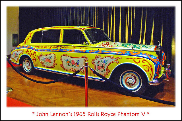 John Lennon's 1965 Roll's Royce Phantom V old car