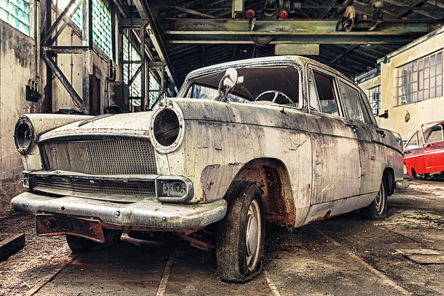 Abandoned Decayed Old Car
