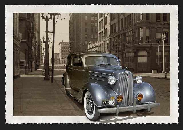 1936 Chevrolet Master Deluxe old car