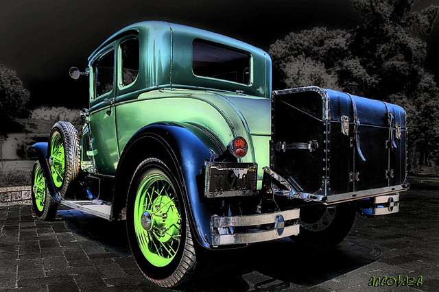 The Green Lantern classic old car