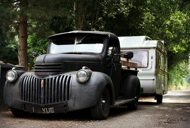 Flat Black Pickup Truck