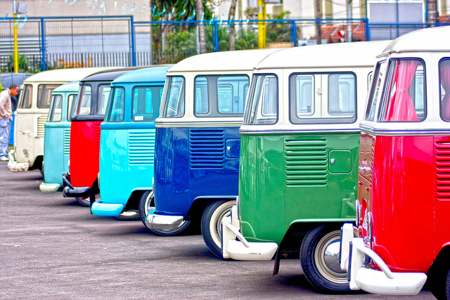 Multicolored Volkswagen Bus