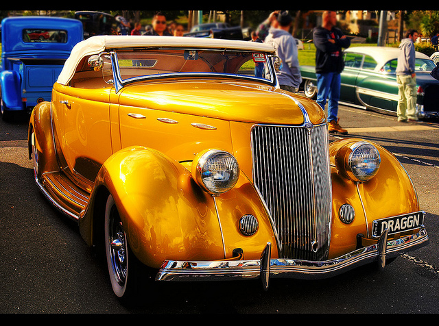 1936 Ford Roadster  old car