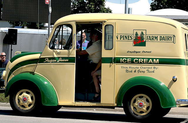 Vintage Milk truck vintage truck