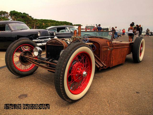 Rusty Rat Rod custom car