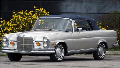 1965 Mercedez Benz 220 SE Convertible old car
