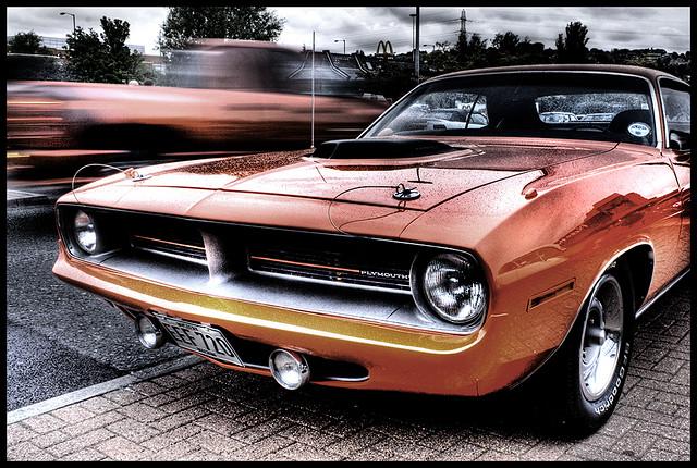 1970 Plymouth Barracuda muscle car