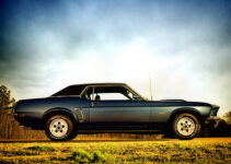 Dark Blue Ford Mustang