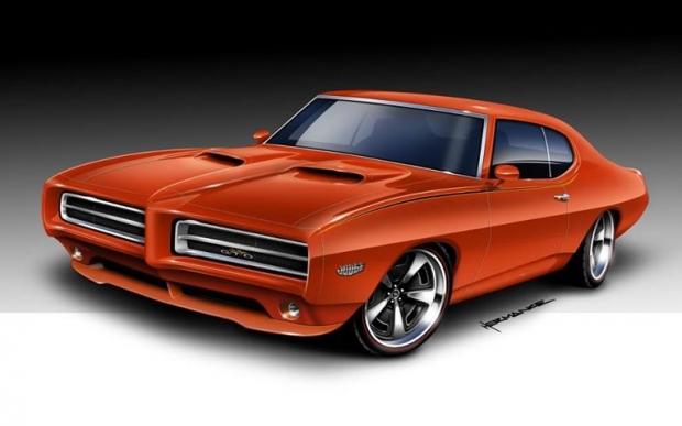 1969 Pontiac GTO muscle car