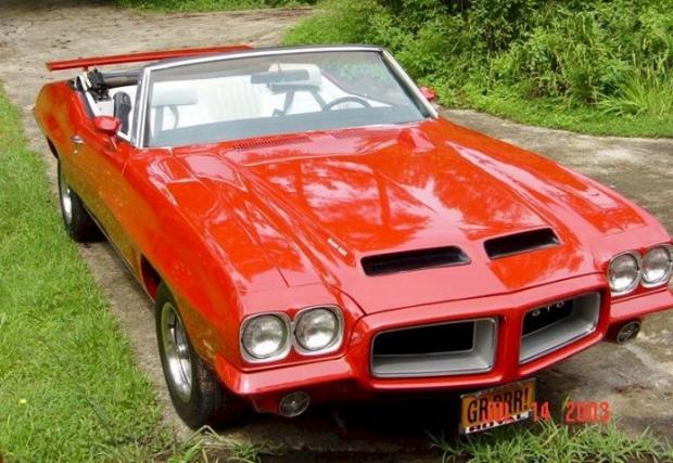 72 GTO Convertible muscle car