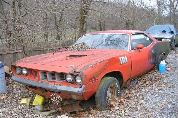 1971 Cuda muscle car