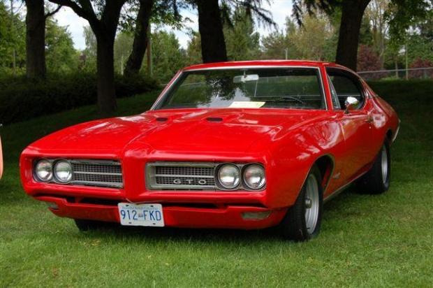 1968 Pontiac GTO muscle car
