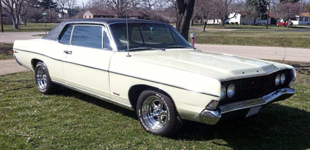 1968 Ford Galaxie 500 muscle car