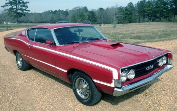 1968 Ford Torino muscle car