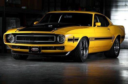1970 Ford Mustang Boss Snake muscle car