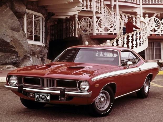 Plymouth Hemi Cuda muscle car