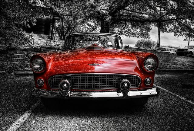 56 Thunderbird old car