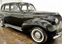 Shiny Black Old Car