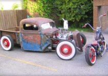 Rockabilly Mayhem Old Truck and Chopper