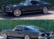 Amazing Black Mustang